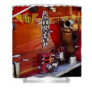 Fireman - Engine No 2  Shower Curtain by Mike Savad