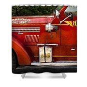Fireman - Garwood Fire Dept Shower Curtain by Mike Savad