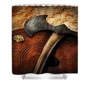 Fireman - The Fire Axe  Shower Curtain by Mike Savad