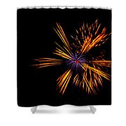 Firework Fun Shower Curtain by Dawn OConnor