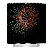 Fireworks Shower Curtain by Christopher Holmes