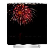 Fireworks II Shower Curtain by Christopher Holmes