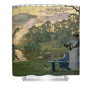 Fireworks Shower Curtain by Konstantin Andreevic Somov