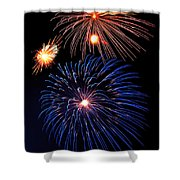 Fireworks Wixom 1 Shower Curtain by Michael Peychich