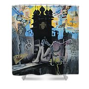 First Butterfly Shower Curtain by Yelena Tylkina
