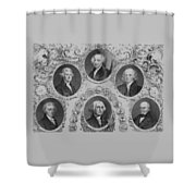 First Six U.s. Presidents Shower Curtain by War Is Hell Store