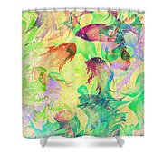 Fish Dreams Shower Curtain by Rachel Christine Nowicki