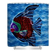 Fish In Water Shower Curtain by Shane Bechler