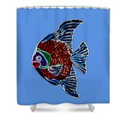Fish Tales Shower Curtain by Shane Bechler