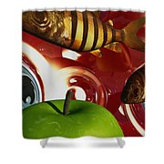 Fish Tripping Shower Curtain by Richard Rizzo