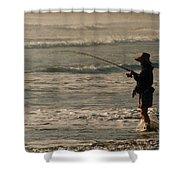 Fisherman Shower Curtain by Steve Karol
