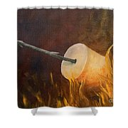 Flaming Shower Curtain by Joi Electa