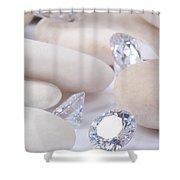 Flashing Diamond Shower Curtain by Atiketta Sangasaeng