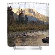 Flathead River Shower Curtain by Richard Rizzo