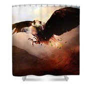 Flight Of The Eagle Shower Curtain by Mary Hood