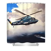 Flight Of The Seasprite Shower Curtain by Marc Stewart