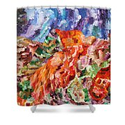 Flock Shower Curtain by Ralph White