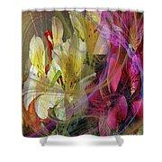 Floral Inspiration Shower Curtain by John Robert Beck