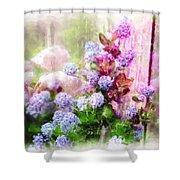 Floral Merge 11 Shower Curtain by Artzmakerz