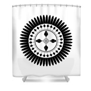 Floral Ornament Shower Curtain by Frank Tschakert