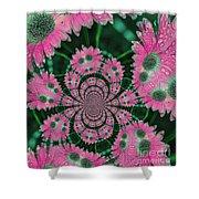 Flower Design Shower Curtain by Karol Livote