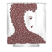 Flower Fashion Shower Curtain by Frank Tschakert