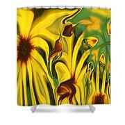 Flower Fun Shower Curtain by Linda Sannuti