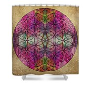 Flower Of Life Shower Curtain by Filippo B