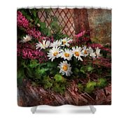 Flower - Still - Seat Reserved Shower Curtain by Mike Savad