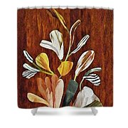 Flowers For Catherine Shower Curtain by Sarah Loft