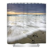 Flowing Stones Shower Curtain by Mike  Dawson
