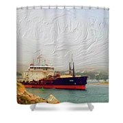 Foggy Morro Bay Shower Curtain by Methune Hively