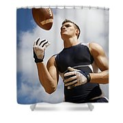 Football Athlete I Shower Curtain by Kicka Witte - Printscapes
