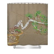 For Inge Shower Curtain by Leah  Tomaino