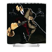 For The Love Of Tango Shower Curtain by Richard Young