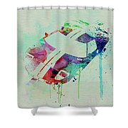 Ford Gt Top Watercolor  Shower Curtain by Naxart Studio