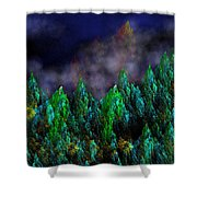 Forest Primeval Shower Curtain by David Lane