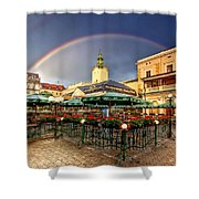 Forget Me Not Shower Curtain by Evelina Kremsdorf