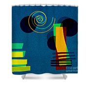 Formes - 03b Shower Curtain by Variance Collections