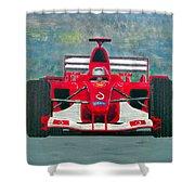 Formula 1 Shower Curtain by Ken Pursley