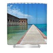 Fort Jefferson Dry Tortugas Shower Curtain by Susanne Van Hulst