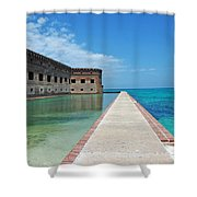 Fort Jefferson Dry Tortugas Shower Curtain by Susanne Van Hulst