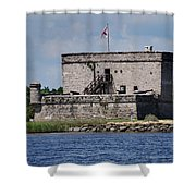 Fort Matanzas Shower Curtain by Skip Willits