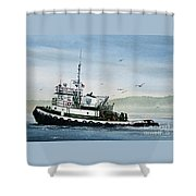 Foss Tugboat Martha Foss Shower Curtain by James Williamson