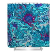 Foulee De Petales - A01t Shower Curtain by Variance Collections