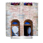 Four Windows Shower Curtain by Marilyn Hunt