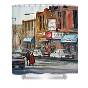 Fox Theater - Steven's Point Shower Curtain by Ryan Radke
