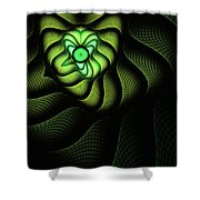 Fractal Cobra Shower Curtain by John Edwards