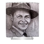 Frank Shower Curtain by Jack Skinner