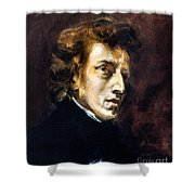 Frederic Chopin Shower Curtain by Granger